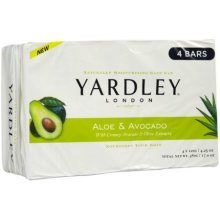 Yardley of London Moisturizing Soap Sweet Summer Aloe and Avocado 3+1