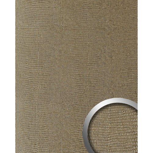 WallFace 19780 Antigrav LEGUAN Silk Design panelling leather look matt brown