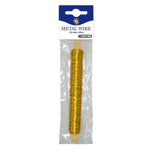 Pbx2470474 - Playbox - Metal Wire (gold) - Ï 0,5 Mm - 50 Mtrs