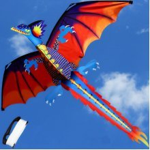 3D Dragon Kite 140*120cm Single Line With Tail Outdoor Sports Toy