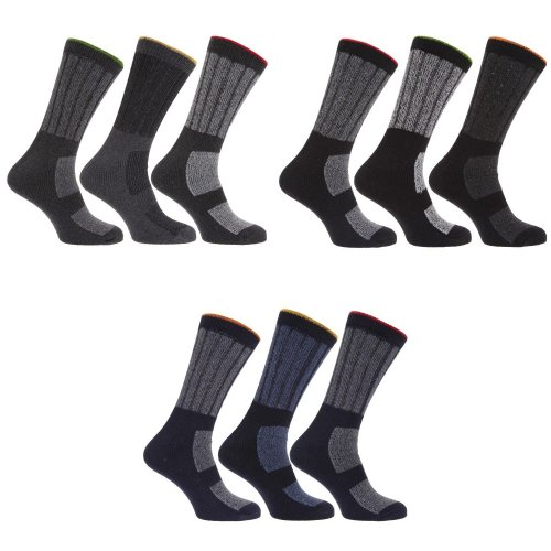 Mens Extra Large Hard Wearing Work Socks Sizes 11-14 (Pack Of 3) (Ideal With Steel Toe Cap Boots)