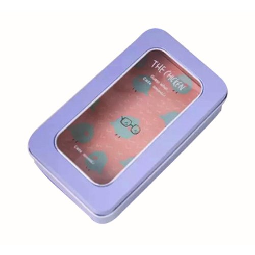 Cute Design Stationery Case Iron Storage Box Tin Box C