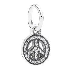 Pandora Sparkling Peace Pendant Charm - 791308CZ