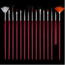 15Pcs Nail Art Brushes Set