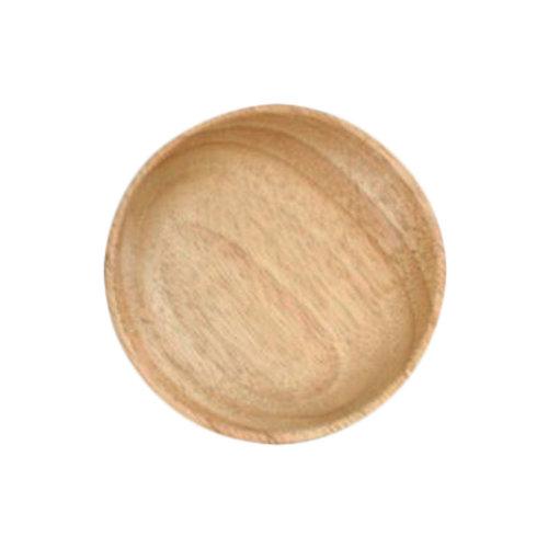 Wooden Dinnerware Fruit/ Meat/ Dessert Plates Round Shape Dishes 12.5 CM