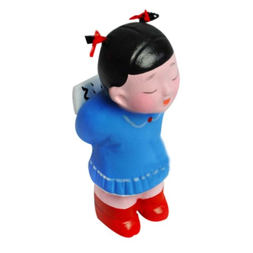 2 Pcs Chinese Clay Doll Ornaments Personalized Toy Figurines