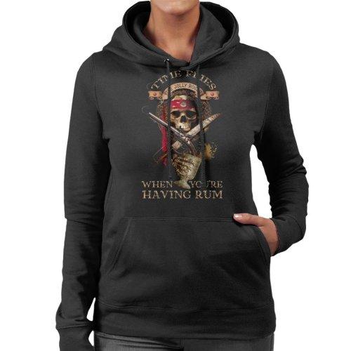 Pirates Time Flies When Youre Having Rum Women's Hooded Sweatshirt