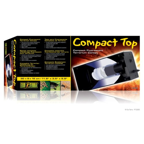 Exo Terra Compact Fluorescent Canopy Single 30cm