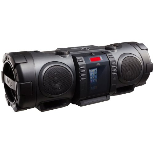 JVC RV-NB75E Powered Twin Super Woofer CD System with Docking for iPod/iPhone.