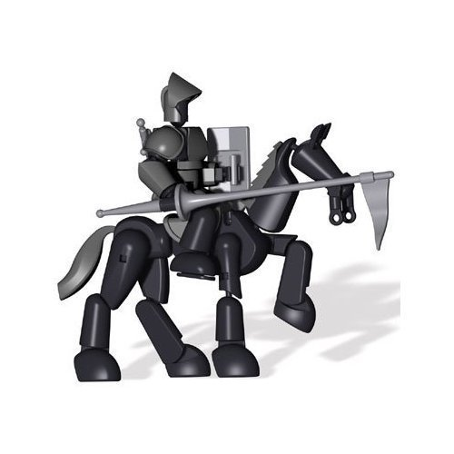 Stikfas Omega Male Armored Knight w/ Stallion