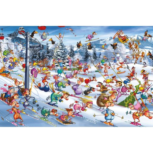 Piatnik Christmas Skiing Jigsaw Puzzle (1000 Pieces)
