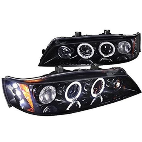 1994-1997 Honda Accord Projector Headlights - Smoke & Glossy Black