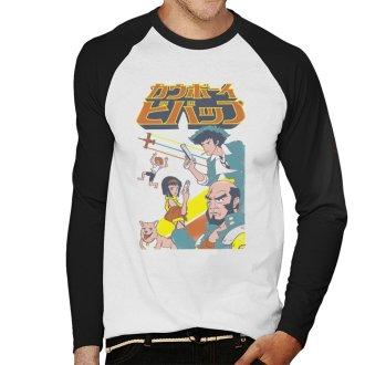 Cowboy Bebop Squadron Men's Baseball Long Sleeved T-Shirt