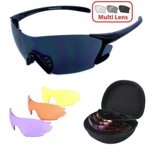 Evolution SWITCH Multi Lens Sports Shooting Sunglasses Glasses