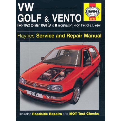 VW Golf & Vento Petrol & Diesel (Feb 92 - Mar 98) Haynes Repair Manual: Petrol and Diesel 1992 to 1998 (Haynes Service and Repair Manuals)
