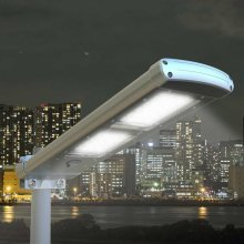Solar Street Lamp with 48 LEDs 2K LM Dust Till Dawn PATHWAY