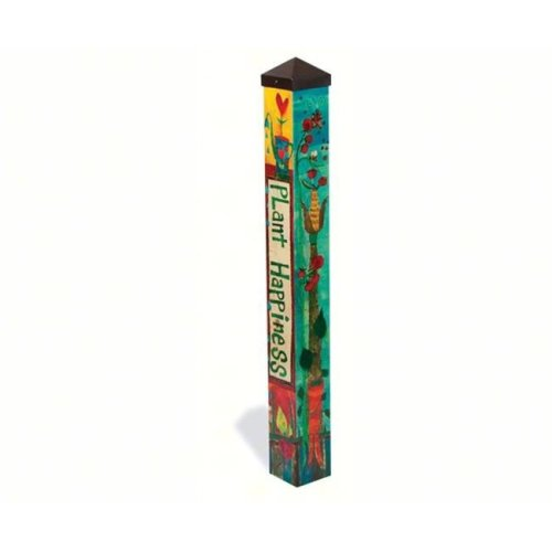 Magnet Works, Ltd. MAILPP226 Plant Happiness 3 ft Art Pole 4x4 + Freight