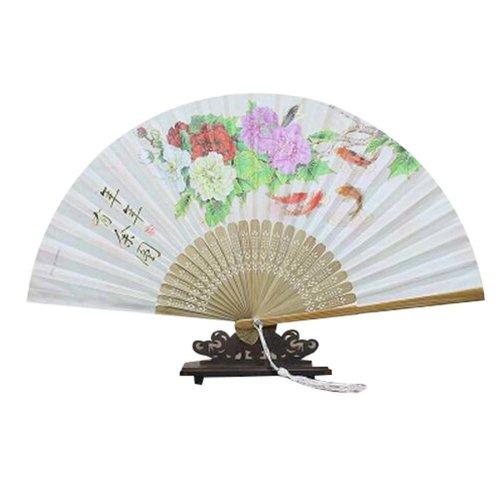 "Flower,Portable Holding Painted Fan Nice Gift Folding Hand Fan 8.27""(21cm) Gift"