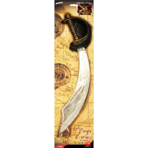 Smiffys Unisex Eyepatch And Pirate Sword - Fancy Dress Cutlass Accessory New -  pirate eyepatch sword fancy dress smiffys cutlass accessory new