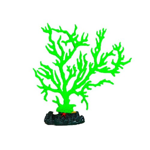 Emulational Plants Aquarium Decor Fish Tank Coral Decoration,Green