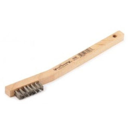 Industries Inc 70506 Wire Scratch Brush, Stainless Steel With Wood Handle
