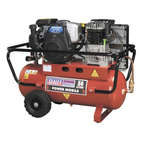 Sealey SA5040 50ltr Belt Drive Compressor with Petrol Engine 4hp