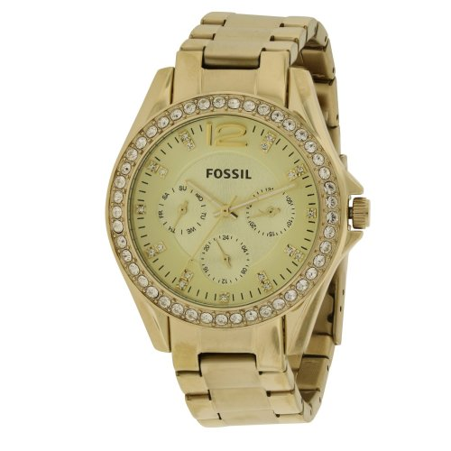 Fossil (Open Box) Riley Gold-Tone Ladies Watch ES3203