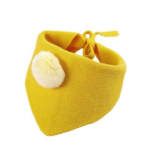 Lovely Warm Winter Scarf Kids Neck Warmer-Yellow