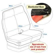 Black Van Twin Front Seat Protector - Large Protective Sheet Cover - Large Black Van Twin Front Seat Protector Protective Sheet Cover