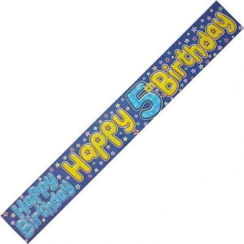 Age 5 Birthday Banner Male