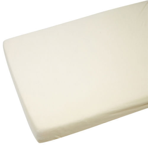 Toddler Bed / Junior Bed 100% Cotton Jersey Fitted Sheet 140cm x 70cm Cream