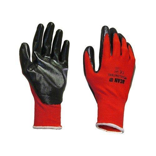 Scan 2ANK33L-24 Palm Dipped Black Nitrile Glove - Large