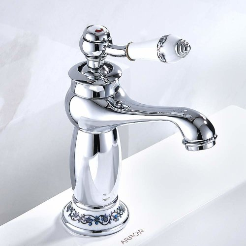 Luxury Victorian Basin Mixer Taps Chrome Mono Bathroom Cloakroom Sink Tap