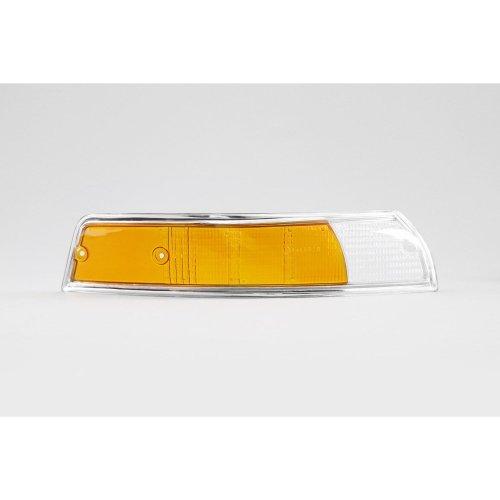 Front indicator lens right clear orange chrome rim Porsche 911 67-74