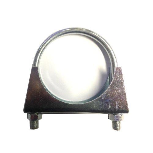 Universal Exhaust pipe clamp + U-bolt - 76 mm - BZP Mild Steel