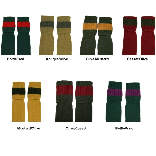 Bisley Shooting socks - warm wool cushioned foot traditional hunting stockings