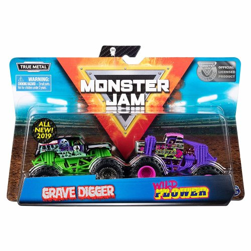 Monster Jam Pack of 2 Vehicles 1:64 Scale (Styles Vary)