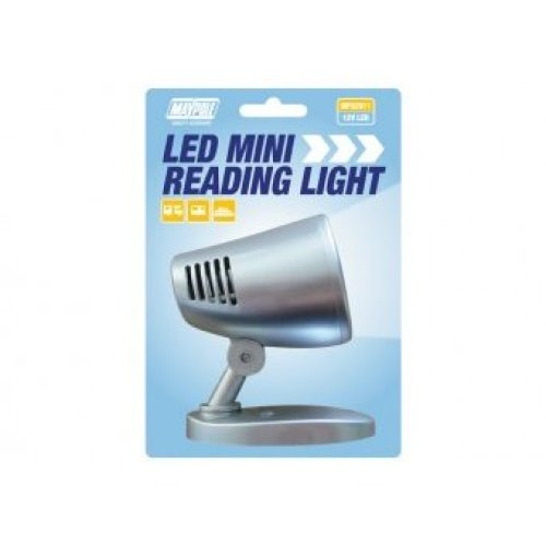 Mini Silver 12v LED Reading Light - Maypole Mini 82911 -  led light maypole 12v silver reading mini minireading 82911