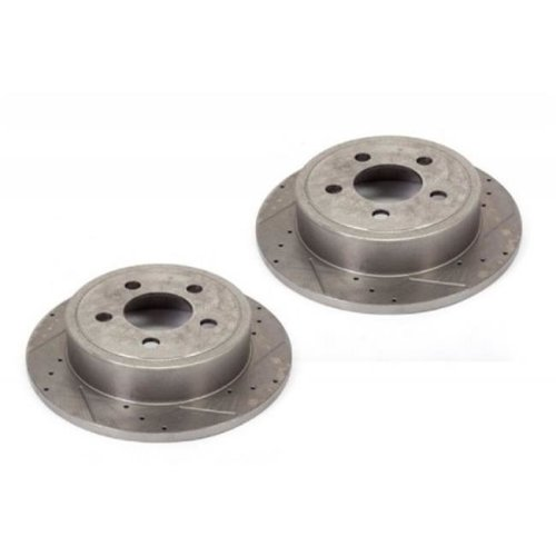 Alloy USA 11350 Disc Brake Rotors 2, Drilled and Slotted, 90-99 Jeep Models