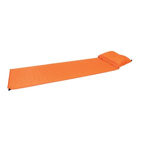 Yellowstone Self Inflating Mat With Pillow And Dry Sack Orange