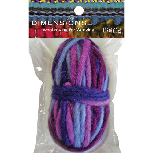 Dimensions Purple Variegated Pencil Roving For Weaving-1.05oz (30g)