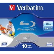 Verbatim BD-R SL 25GB 6x Printable 10 Pack Jewel Case BD-R 25GB 10pc(s)