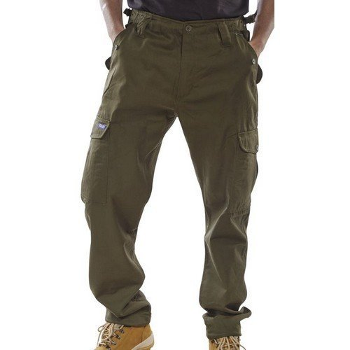 """Click PCCTO30 Polycotton Combat Trousers Olive Green 30"""""""