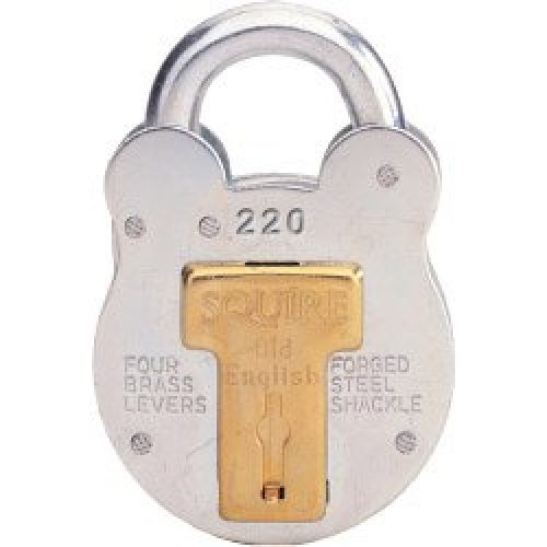 38mm Old English Steel Case Padlock - 220 Squire Henry -  padlock 220 squire old english steel 38mm case henry