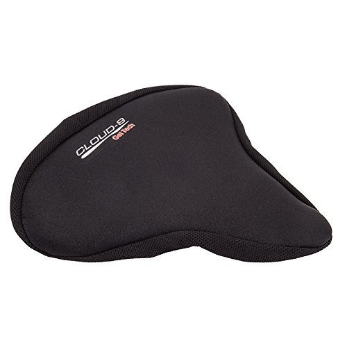 Sunlite Bicycle Deluxe Gel Seat Cover For Crusier Excercise Bike Saddles 11 X 10 Black