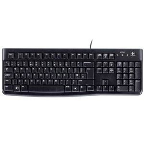 Logitech K120 USB QWERTY UK English Black keyboard