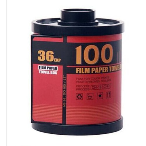 Retro Film-Shaped Tissue Holder Toilet Paper Box Cover Red