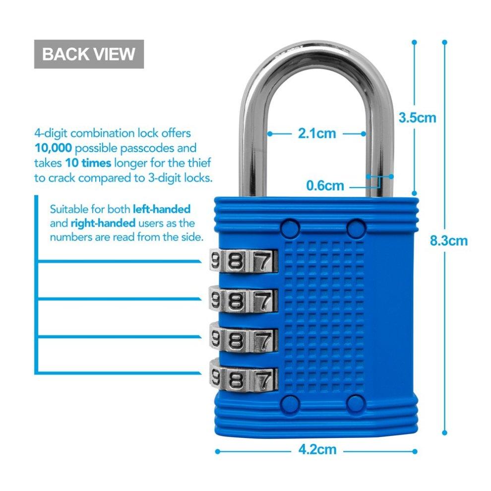 4 Digit Combination Padlock - Lock for Gym, School, Employee Locker, Fence,  Hasp and Outdoor Storage