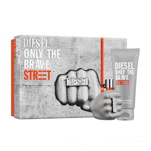 DIESEL ONLY THE BRAVE STREET EDT 50ML AND 100ML SHOWER GEL GIFT SET