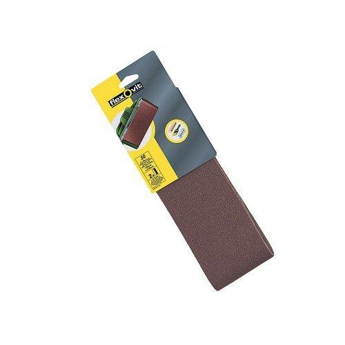 Flexovit 63642526476 Cloth Sanding Belts 560mm x 100mm 120g Fine Pack of 2